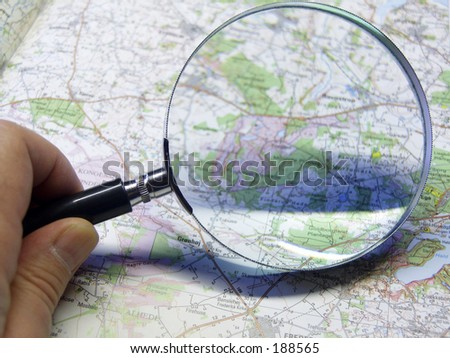 Planning where to go - stock photo