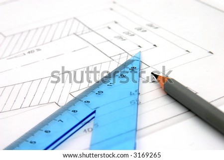 Plans and pencil
