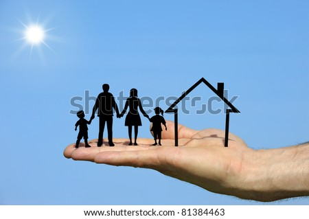 plans to build for the family - stock photo