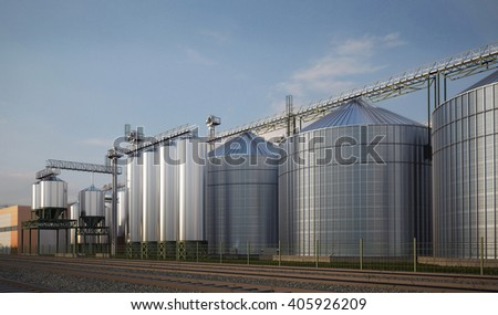 plant agricultural processing silage, grain, 3d image