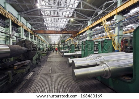 plant for the production of parts for the huge super cars - stock photo