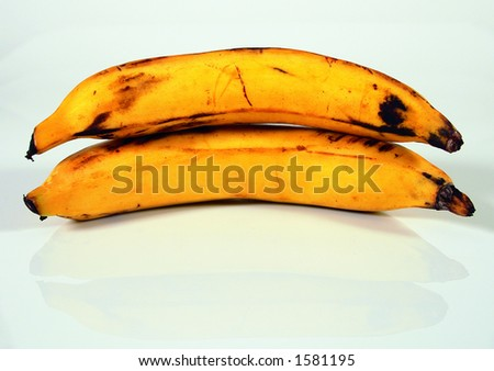 Plantains, not bananas - stock photo
