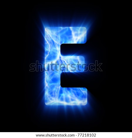 Plasma font. - stock photo