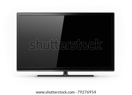 Plasma, LCD, Oled - screen - stock photo