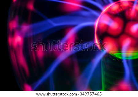Plasma Static Electricity on a Tesla Sphere - stock photo