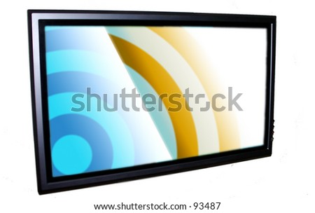 Plasma TV Color - stock photo