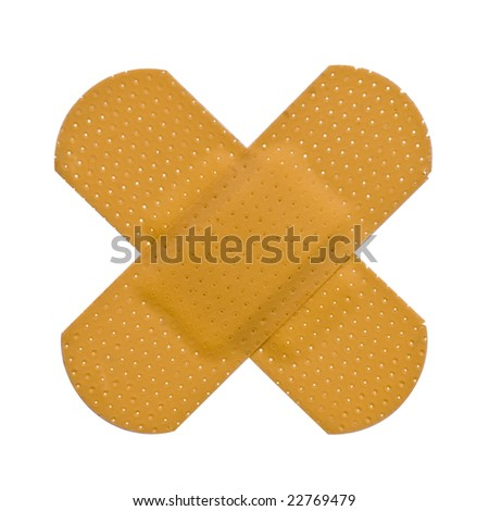 Plaster bandaid isolated on a white background