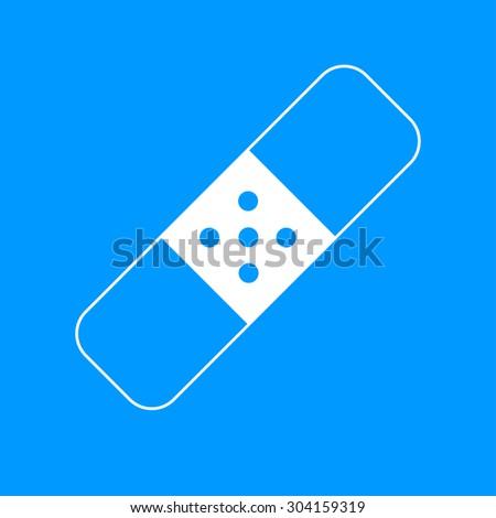 Plaster icon. Flat design styled. Flat design style - stock photo