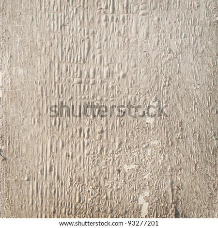 plaster or wood texture as a background gray - stock photo