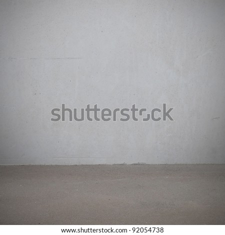 Plaster wall and the floor - stock photo