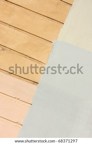 Plaster wall with texture - stock photo