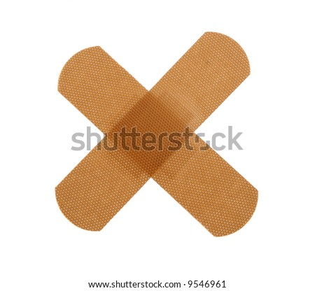 Plasters isolated on white background