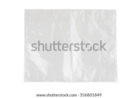plastic bag on a white background - stock photo