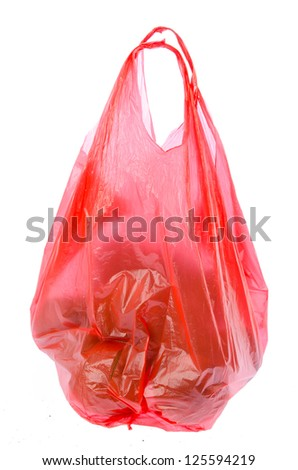 Plastic bag on isolated background - stock photo