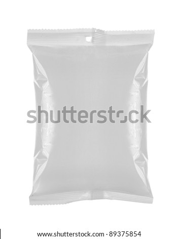 plastic bag snack packaging. for another blank packaging visit my gallery - stock photo