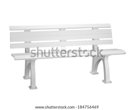 plastic bench  background - stock photo