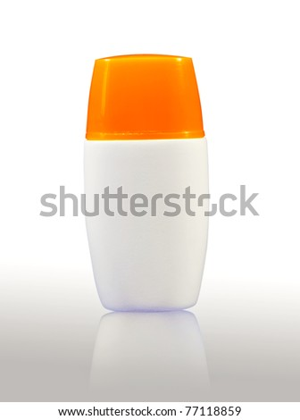 Plastic bodylotion bottle - stock photo