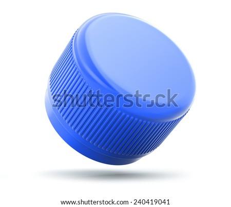 Plastic bottle cap on white background - stock photo