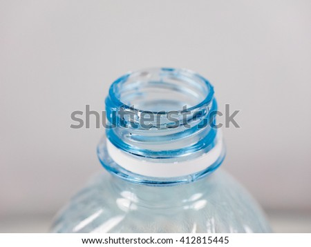 Plastic bottle of still or sparkling drinking water