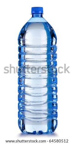 Plastic bottle of water - stock photo