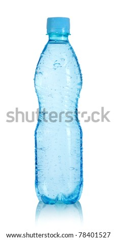 Plastic bottle of water isolated on a white background