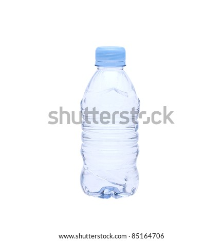 Plastic bottle of water isolated on white