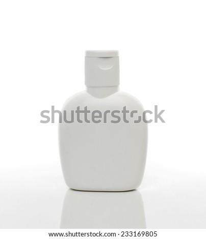 Plastic bottle on white background - stock photo