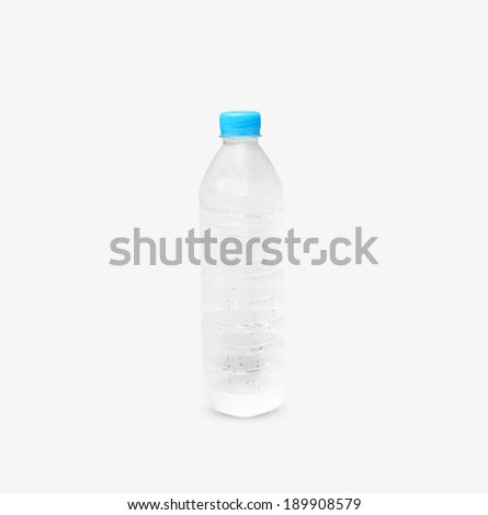 Plastic bottle water cooler isolated on a white background. - stock photo