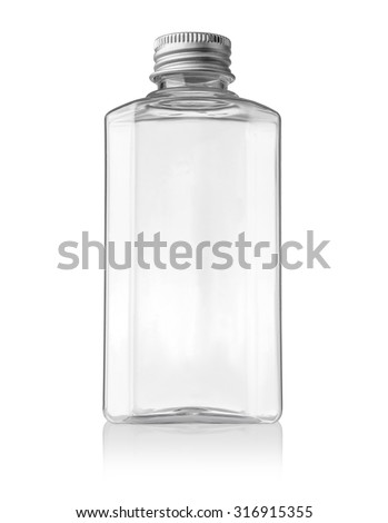 Plastic bottle (with clipping path) isolated on white background - stock photo