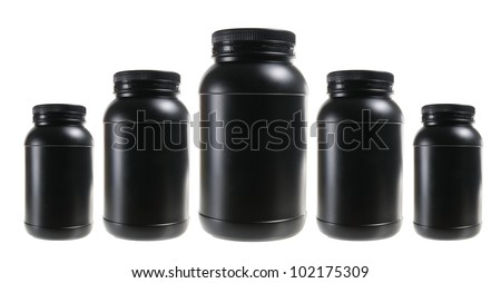 Plastic Bottles on White Background - stock photo
