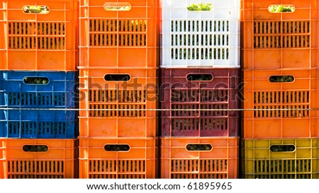 Plastic box - stock photo