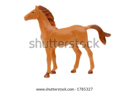 plastic brown toy horse