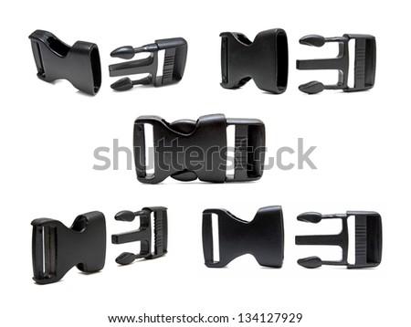 Plastic buckle set - stock photo