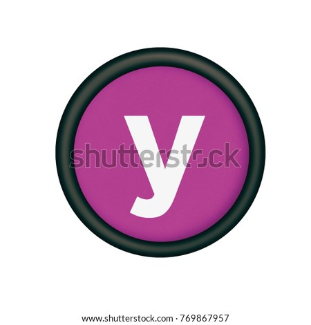 Plastic button letter y purple background stock illustration plastic button with the letter y purple background sciox Images
