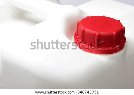 Plastic can - stock photo