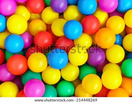 plastic color balls background - stock photo