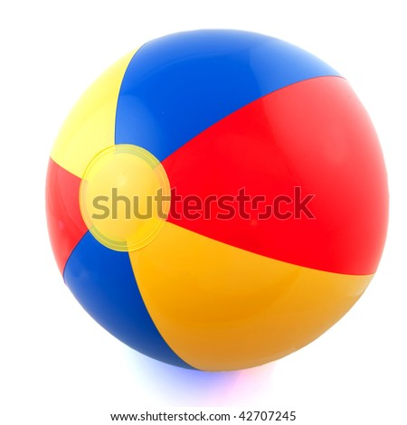 Plastic colorful ball for at the beach - stock photo