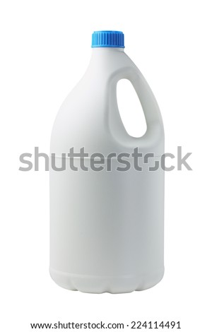 Plastic Container For Detergent On White Background - stock photo