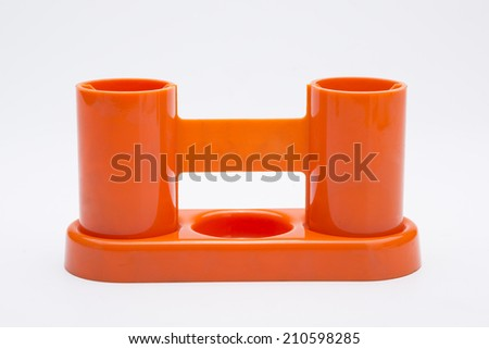 Plastic container isolated on white background. - stock photo