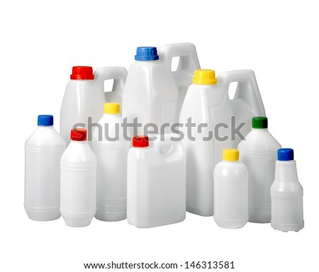 plastic containers - stock photo