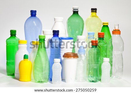 Plastic  containers. - stock photo