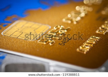 Plastic Credit Cards - stock photo
