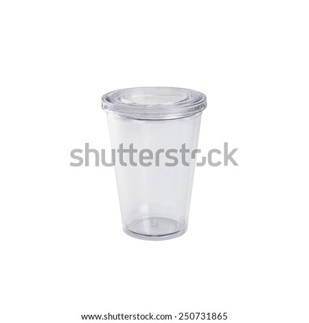plastic cup - stock photo