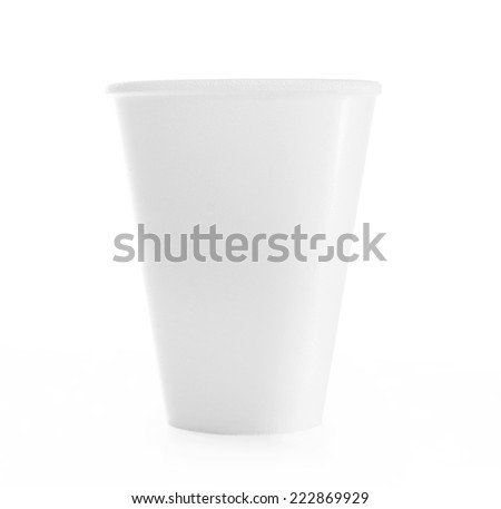 plastic cup isolated on white background