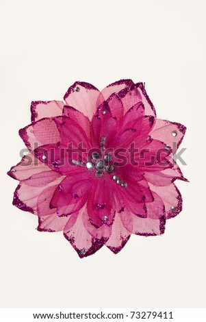 Plastic decorative flower - stock photo