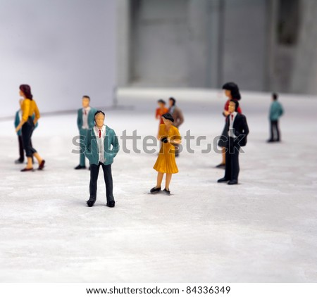 plastic fake miniature people lifestyle - stock photo