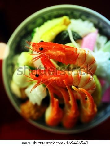 plastic food - stock photo