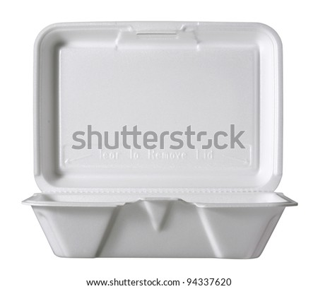 plastic food container, - stock photo
