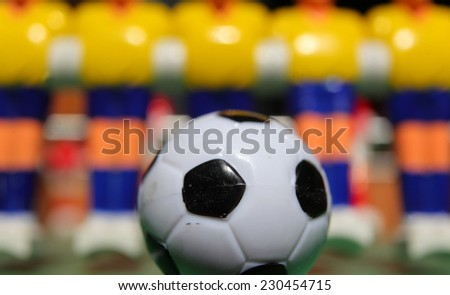 plastic football player. board game - stock photo