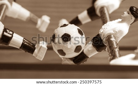 plastic football table football players - stock photo